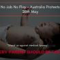 No Jab No Play – Australia Protests 28th May 2017