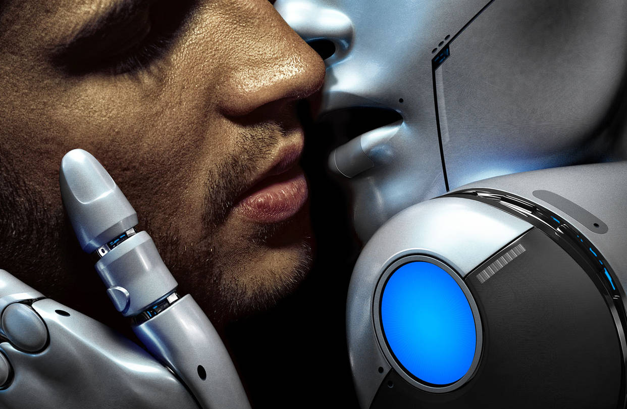 девушку-робота мужик трахает