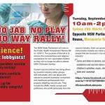 URGENT: Sydney Rally Against No Jab No Play Tuesday, September 12th – WE NEED YOU THERE!