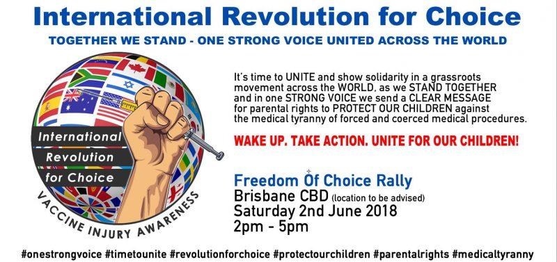 International Revolution for Choice Rally Brisbane Australia
