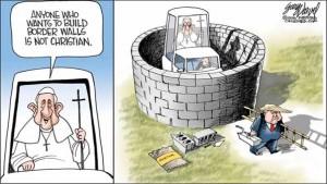Cartoonist-Gary-Varvel-Pope-vs-Trump-on-border-walls