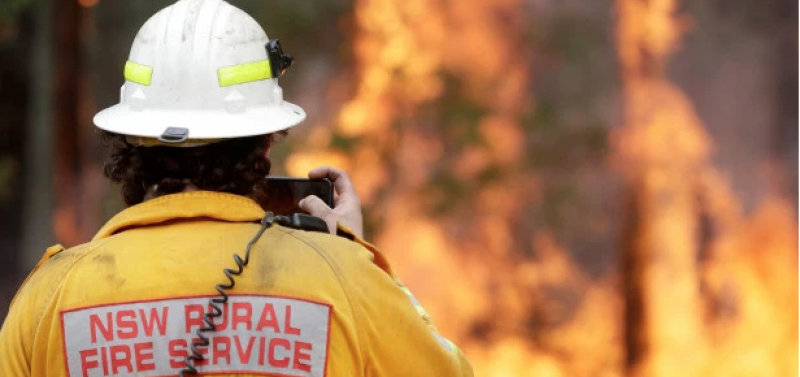 Firefighter charged with starting 17 blazes in Australia while on bail 'for serious sex offences' tracked by ankle tag