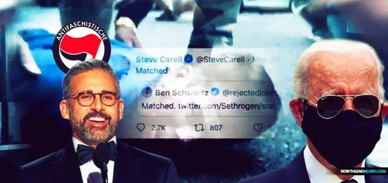 MILLIONAIRE ELITES LIKE STEVE CARELL AND JOE BIDEN CONTRIBUTE TO FUND THAT IS BAILING OUT ULTRA-VIOLENT ANTIFA AND BLM ANARCHISTS FROM JAIL FOR ASSAULT