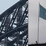 United Nations Flag Raised Over Sydney Harbour