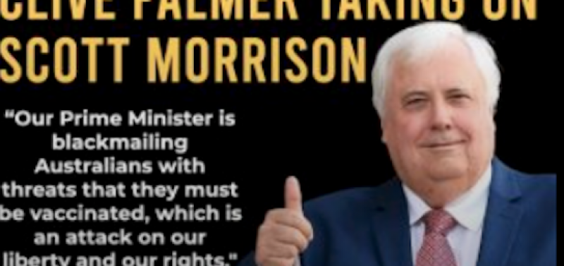 Clive Palmer to launch High Court action against Morrison's vaccine passport