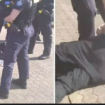 """""""OZ POLICE STATE TERROR"""" Elderly man collapses to the ground after being arrested for failing to wear a face mask"""