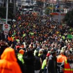 'We built this city!': Pro-choice tradies bring Melbourne to a standstill