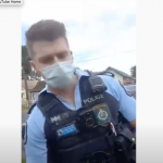 Brave woman against a gang of psychopathic COVID cops