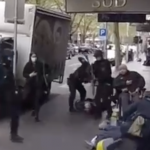 MELBOURNE RIOT SQUAD GOONS BASH AND HIT UNARMED CIVILIANS WITH RIFLE BUTTS