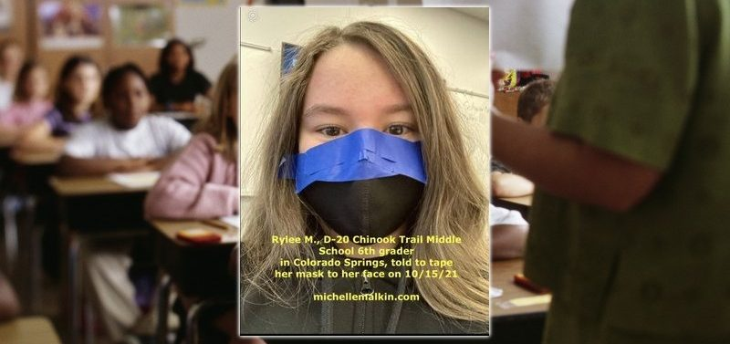 Teachers at Colorado Springs School Force Children to Tape Masks to Their Face