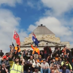 Protest at the Shrine of Remembrance (Melbourne) 22.09.21
