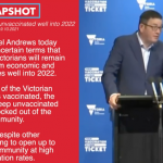 """""""TYRANT ANDREW'S"""" No freedoms for the unvaccinated well into 2022 in Victoria"""